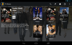 Nexus 7 and TV show preview page